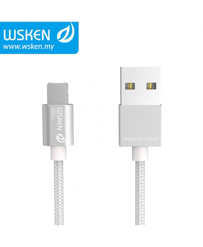 WSKEN Micro USB + Lightning 2 In 1 Cable - Silver